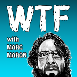 WTF with Marc Maron podcast graphic on carpoolcandy.com