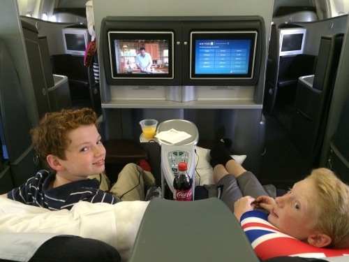 FLying business class with kids on carpoolcandy.com