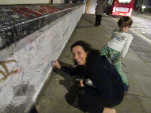 Graffiti on Abbey Road studios wall on carpoolcandy.com