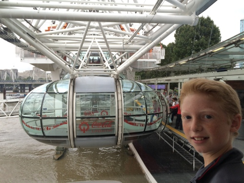 London Eye with kids on carpoolcandy.com