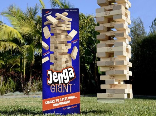 Jenga Giant game on carpoolcandy.com holiday gift guide