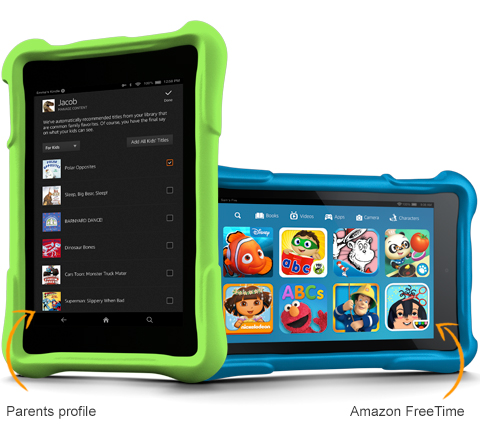 KIndle Fire HD kids on carpoolcandy.com holiday gift guide