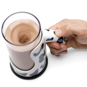 messless chocolate milk mixing mug on carpoolcandy.com