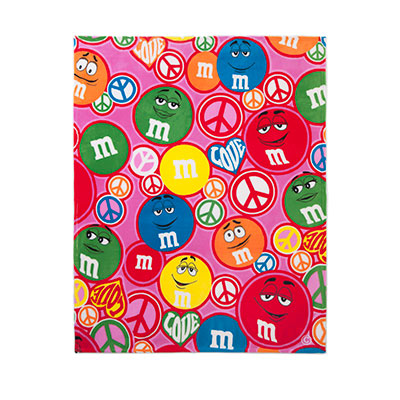 M and M peace blanket on carpool candy.com holiday gift guide