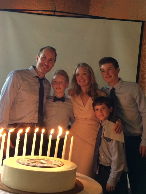 Bar mitzvah candle lighting