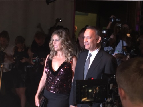 Tom Hanks and Rita Wilson at Tom Ford fall fashion  show