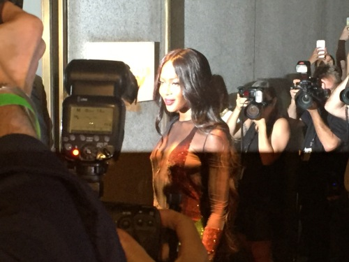 Naomi Campbell at Tom Ford fall fashion  show
