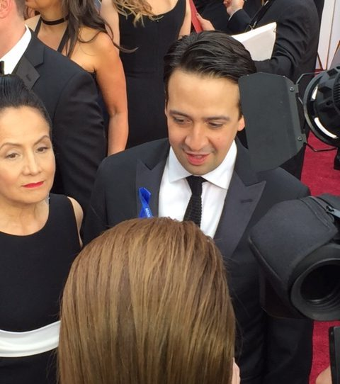 LIn-Manuel Miranda Oscars red carpet 2017