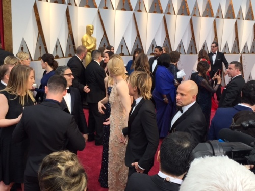 Nicole Kidman Keith Urban Oscars red carpet 2017