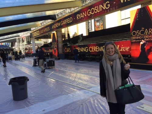 Oscars red carpet prep