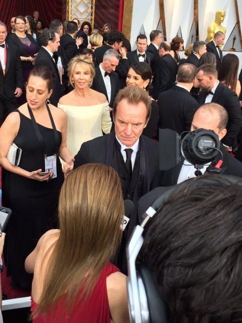 Sting red carpet Oscars 2017